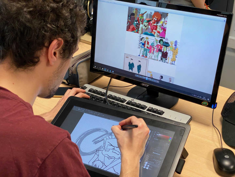 Illustration Photoshop - 2ème Artisan de l'Image Animée - École Georges Méliès